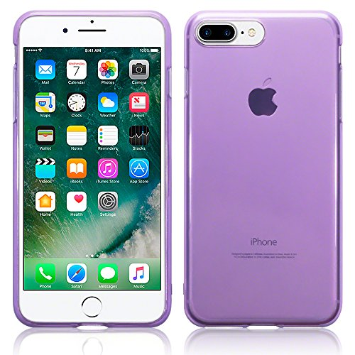 Terrapin TPU Gel Custodia per iPhone 7 Plus Case, Colore: Porpora