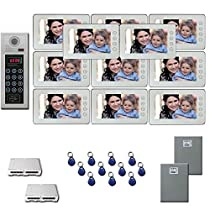 Apartment Building Video Entry 11 seven inch monitor door panel kit