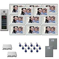 Apartment Video Intercom 11 seven inch monitor door panel camera