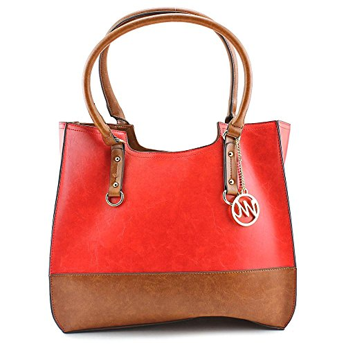 emilie-m-kimberley-two-tone-scoop-tote-shoulder-bag-red-one-size