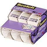 Scotch Giftwrap Tape 3/4inx300in 3 ct (2 Pack)