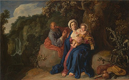 Oil Painting 'Pieter Lastman The Rest On The Flight Into Egypt', 10 x 16 inch / 25 x 41 cm , on High Definition HD canvas prints is for Gifts - Airport Dallas Open