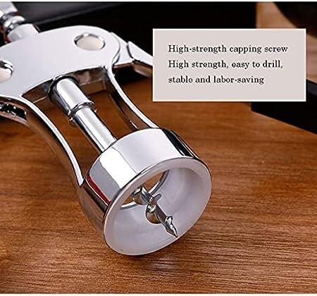 Sacacorchos de Camarero Mejor ala abridor de Acero Inoxidable Abridor de Botellas de Camarero de Lujo para Amantes del Vino Camareros Abridor de Botellas de Vino