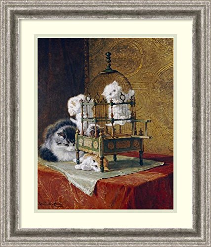 Framed Wall Art Print | Home Wall Decor Art Prints | Caged Kittens by Henriette Ronner-Knip | Casual Decor