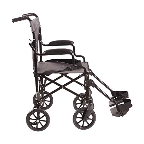 Dmi Lightweight Folding Transport Chair Travel Wheelchair