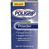 PoliGrip Super Denture Adhesive Powder, Extra Strength 1.6 oz Container (Pack of 6)