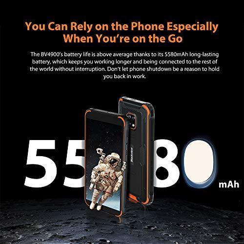 Blackview BV4900 Téléphone Portable Incassable,Écran 5,7' Batterie 5580mAh, Charge Inverse, Smartphone IP68 Étanche… 5
