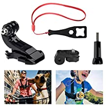 """Fantaseal® Action Camera Conversion Adapter Kit 1/4"""" Screw-GoPro Mouting Adaper for VTech Kidizoom Kids Camera SONY FDR-X3000R FDR-X1000VR HDR-AS300R HDR AS10 AS15 AS20 AS30 AS50 AS100 AS200 HDR AZ1 / Kodak SP 360/ Samsung Gear360 / Nikon KeyMission 360 / 170 / 80 Action Camera Mount Aadapter"""