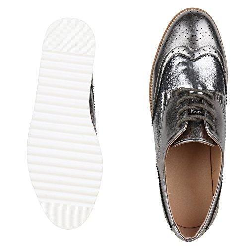 Japado - Zapatos de vestir brogues Mujer gris oscuro