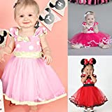 IBTOM CASTLE Girls' Polka Dots Princess Party Cosplay Pageant Fancy Costume Tutu Dress up Mouse Ears Headband