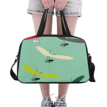 Reopx Flying Hang Glider Silhouette Gran Yoga Gym Totes ...