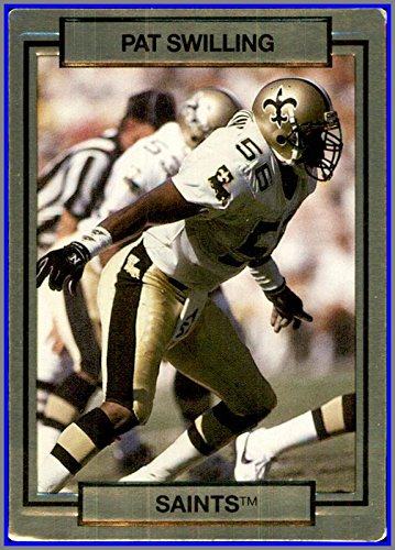 1990 Action Packed #180 Pat Swilling NEW ORLEANS SAINTS GEORGIA TECH YELLOW JACKETS 1990 Georgia Tech Yellow Jackets