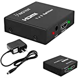 INSTEN HDMI Amplifier 1 X2 Female Splitter, Version 3 For Nintendo Switch, Sony PlayStation 4 / PS4 Slim / PS4 Pro, Microsoft Xbox One/Xbox One S