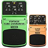 Behringer Vintage Tube Overdrive Tube-Sound Effects Pedal (TO800) with SUPER FUZZ 3-Mode Fuzz Distortion Effects Pedal