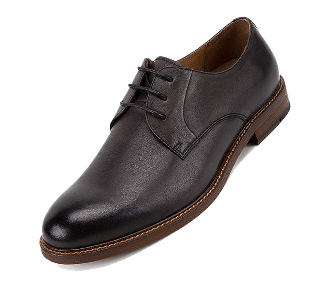 zapatos De Boda Caballero Inglaterra zapatos De Hombre marrón negro Derby Puntiagudo Fiesta Adulto negro