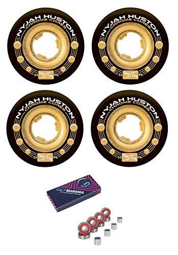 - Ricta Nyjah Huston 53mm Chrome Core 99a Skateboard Wheels + Cal 7 Bearings