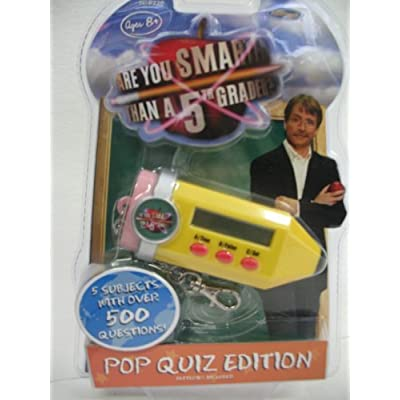 Are You Smarter Than A 5th Grader? Pop Quiz Edition Electronic Key Chain Game: Toys & Games
