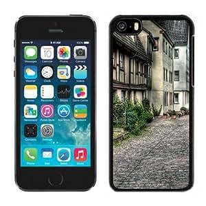 NEW Unique Custom Designed iPhone 5C Phone Case With Old City Street Architecture_Black Phone Case