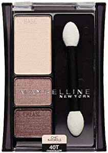 Maybelline New York Expert Wear Eyeshadow Trios 40t Chocolate Mousse Chic Naturals 0.13 Ounce