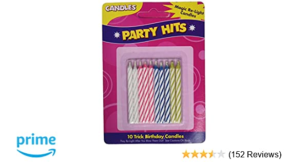 Amazon Magic Relighting Birthday CandlesPackage May Vary Gag Candles Kitchen Dining