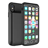 Scheam iPhone X iPhone Xs Battery Battery Case Juice Slim Rechargeable Charging Case Portable External Charger Power case Compatible with iPhone X iPhone Xs Battery Extended Battery - Black