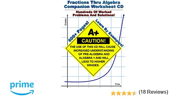 Amazon.com: Fractions Thru Algebra Companion Worksheet CD ...