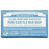 Dr. Bronner's Pure-Castile Magic Bar Soap, Unscented, 6 Count
