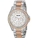 Fossil Women's ES2787 Riley Analog Display Analog Quartz Gold Watch