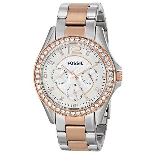 Amazon.com: Fossil Womens ES2787 Riley Analog Display Analog Quartz Gold Watch: Fossil: Watches