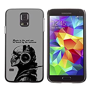 LECELL -- Funda protectora / Cubierta / Piel For Samsung Galaxy S5 SM-G900 -- Cool Music In The Soul Message --