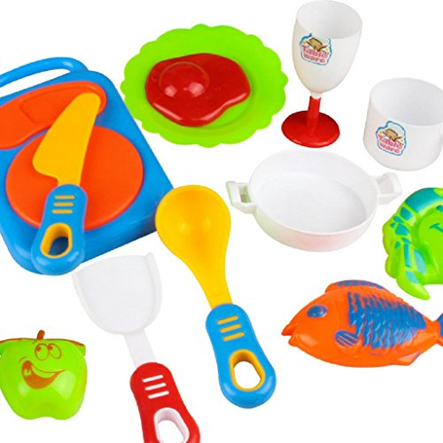 Jeux ducatifs xinan 17pcs plastique pour enfants ustensiles de cuisine alimentaire jouet de - Ustensile de cuisine pour enfant ...