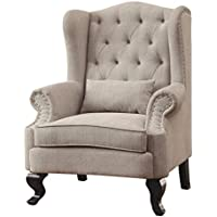 247SHOPATHOME Idf-AC6271BG-CH Living-Room-Chairs, Beige