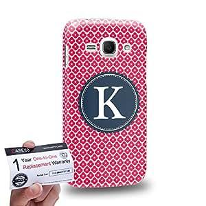 Case88 [Samsung Galaxy Ace 3] 3D impresa Carcasa/Funda dura para & Tarjeta de garantía - Art Typography Fashion Alphabet K Style