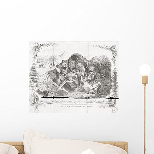 Life Gold Mines California Wall Mural Wallmonkeys Peel and Stick Graphic (18 in W x 14 in H) WM66705