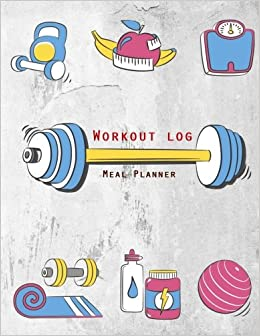 amazon workout log diet and exercise journal cartoon fitness