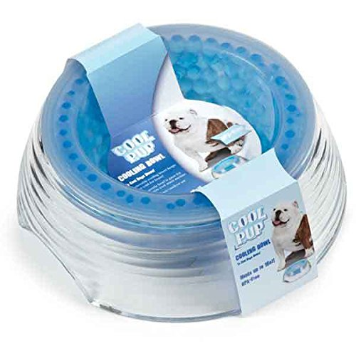Cooling Bowls For Dogs Freezer Inserts For Cold Water on Hot Summer Days 16 oz by CP (Image #1)