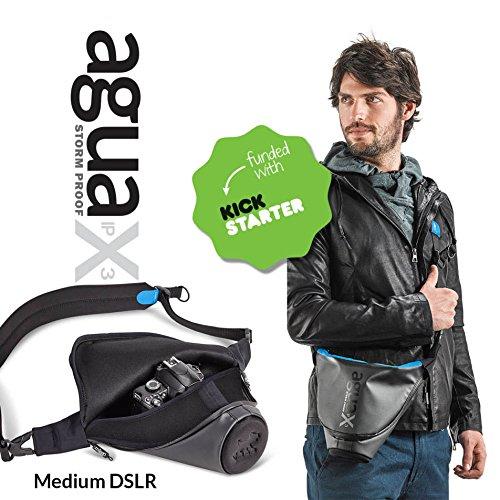 - Miggo Agua 35 Stormproof Waterproof Holster for Medium DSLR Cameras (Black-Blue)