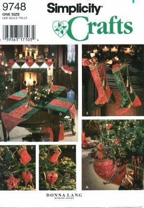 Amazon.com: Simplicity 9748 Crafts Sewing Pattern Christmas Tree ...