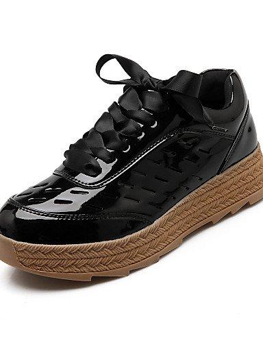 Golden Microfibra us7 Eu38 Moda Cn38 us8 Gyht Black Uk5 Mujer Zapatos 5 Zq Exterior Plataforma Uk6 Mocasines La A negro Rosa De Eu39 5 Cn39 Casual Botas Punta Redonda 6TgxAfw4qx