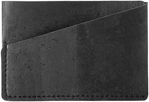 Minimalist Front Pocket Wallet Cards ID Slim Vegan Non Leather Eco Friendly Cork
