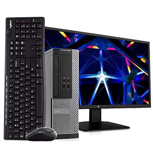 Dell OptiPlex 3020 SFF PC Desktop Computer, Intel i5-4570, 8GB RAM 500GB HDD, Windows 10 Pro, New 23.6″ FHD V7 LED Monitor, New 16GB Flash Drive, Wireless Keyboard & Mouse, DVD, WiFi (Renewed)