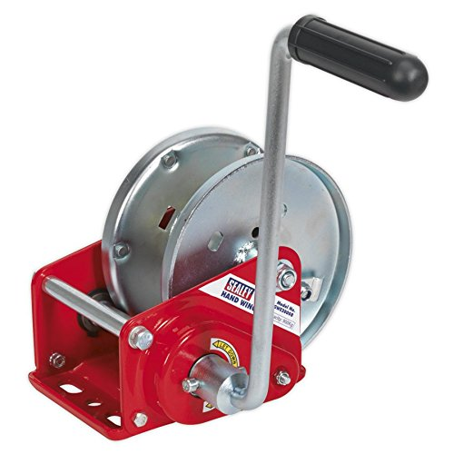 Sealey GWE2000B Geared Hand Winch with Brake 900kg Capacity