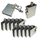 Xmomx Hiking Emergency Survival Camping Fire Starter Flint Metal Match Lighter, Silver, 1 x 3 x 4.8 cm, 10-Pack