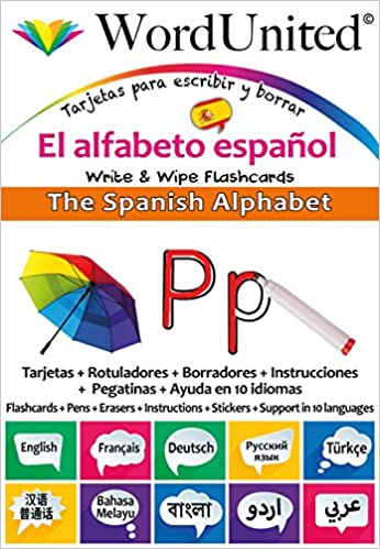 The Spanish Alphabet Write Wipe Flashcards Amazon Fr