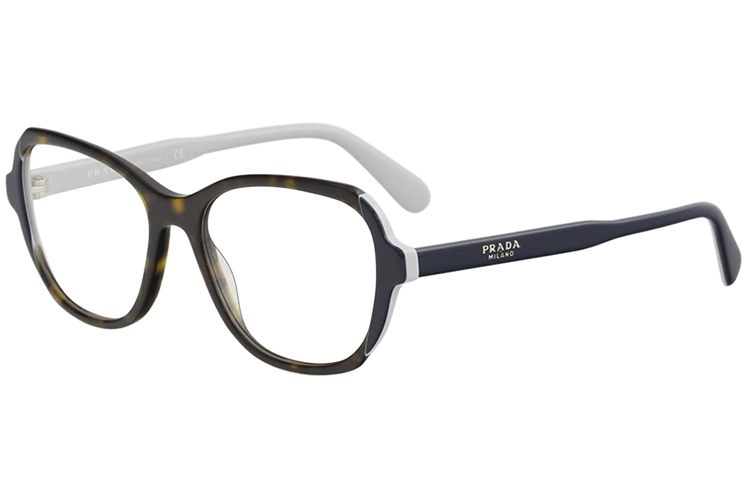 c20caea636 Eyeglasses Prada PR 3 VV W3C1O1 HAVANA TOP BLUE GREY at Amazon Men s  Clothing store