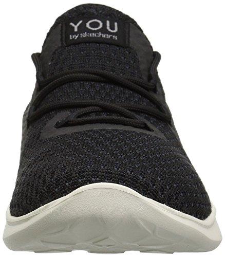 Skechers Mujer Negro Serene Cordones Zapatillas blanco Sin tranquility Para 0nYUqr0F
