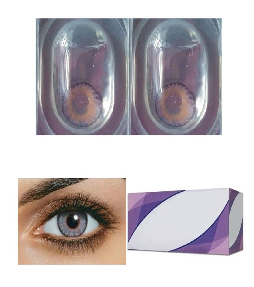 Women Cute Charming and Attractive Colored Contact Lenses Cosmetic Makeup Eye Shadow - Amethyst