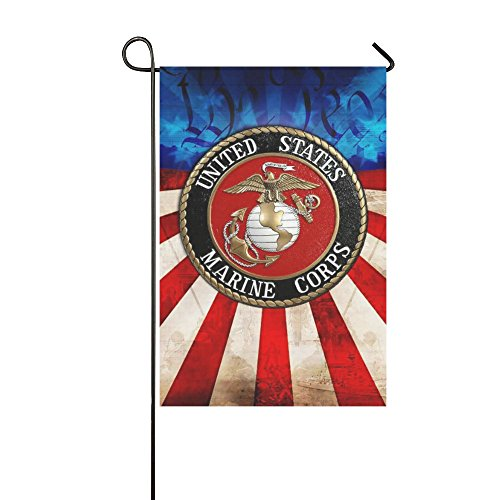 Wine Standard Monogram (New Year Gifts/Thanksgiving Day USMC United States Marine Corps Outdoor Summer Holiday Welcome Home Garden House Flag Fabric 12 x 18 inches)
