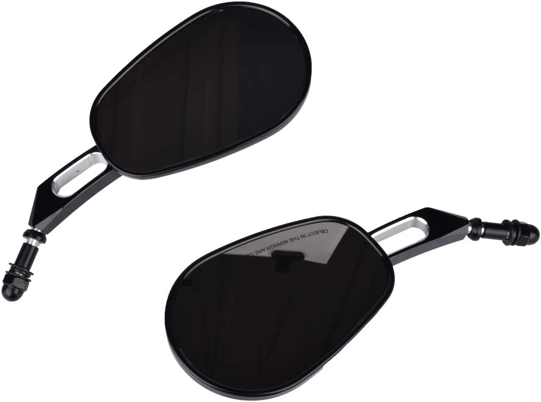 NATGIC Motorcycle Side Mirrors Rearview for Harley Road King Sportster Street Glide Electra Glide Dyna Softail Road Glide 1982-2019 1 Pair