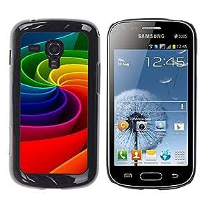 [Neutron-Star] Snap-on Series Teléfono Carcasa Funda Case Caso para Samsung Galaxy S Duos S7562 [Arte colorido del arco iris de la rueda de movimiento 3D]